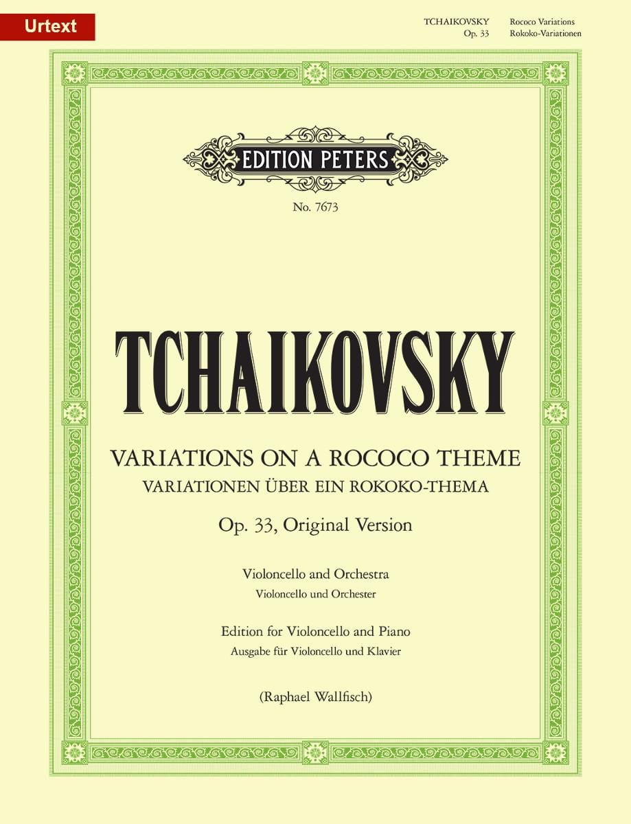 TCHAIKOVSKY - Variations On A Rococo Theme, Op. 33 Urtext - Partition - di-arezzo.co.uk