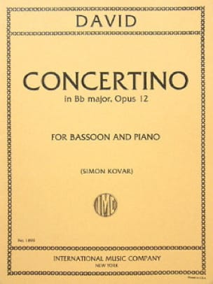 Concertino op. 12 -Bassoon piano - Ferdinand David - laflutedepan.com