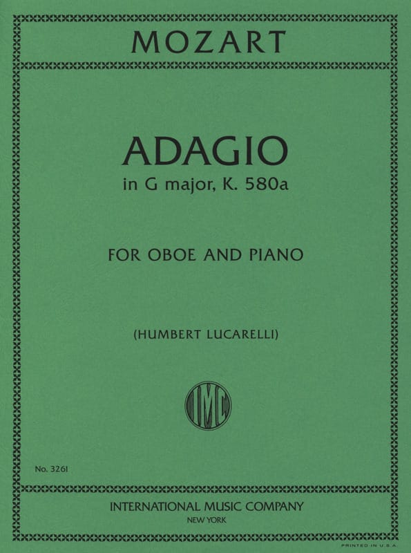 MOZART - Adagio, Kv 580a - Partition - di-arezzo.co.uk