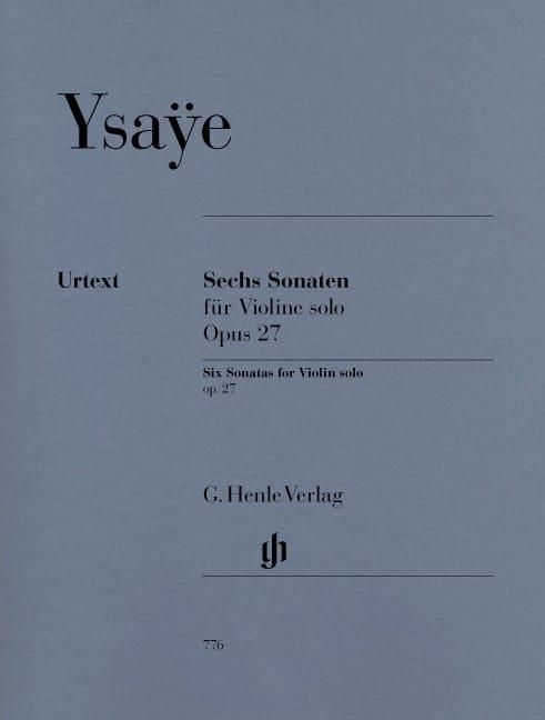 Eugène Ysaÿe - Six Sonatas op. 27 - Partition - di-arezzo.co.uk