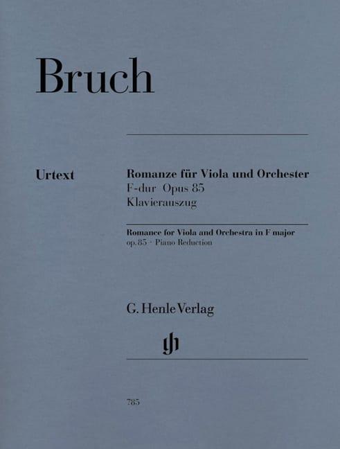 Romanze für Viola, F-dur op. 85 - BRUCH - Partition - laflutedepan.com
