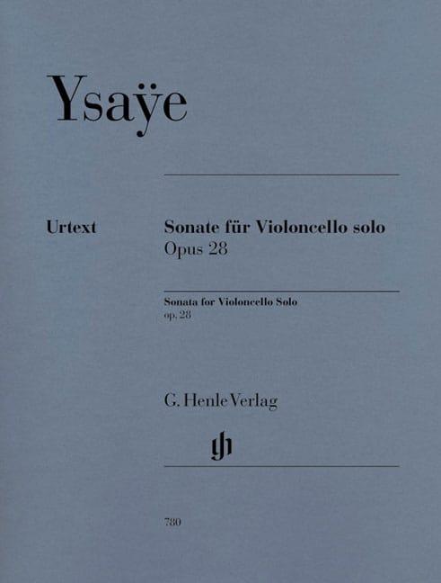 Sonate Pour Violoncelle Seul Op. 28 - Eugène Ysaÿe - laflutedepan.com