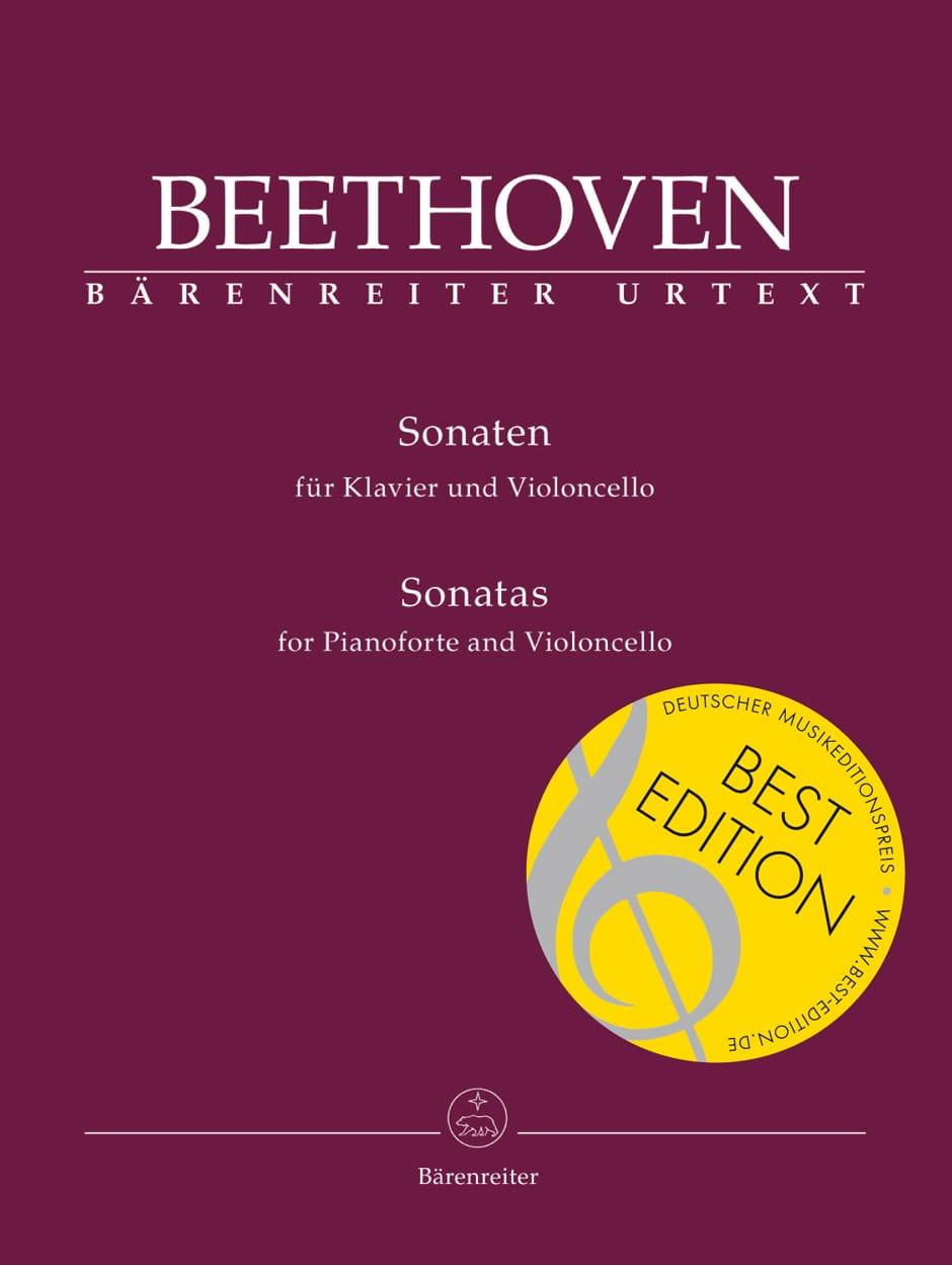 BEETHOVEN - Sonatas for cello and piano - Partition - di-arezzo.co.uk
