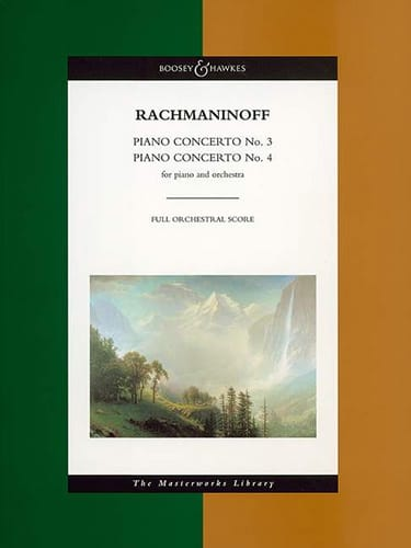 RACHMANINOV - Piano Concertos N ° 3 and 4 - Score - Partition - di-arezzo.com