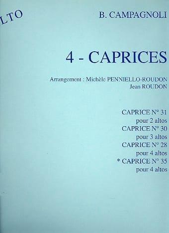 Caprice n° 35 - 4 altos - Bartolomeo Campagnoli - laflutedepan.com