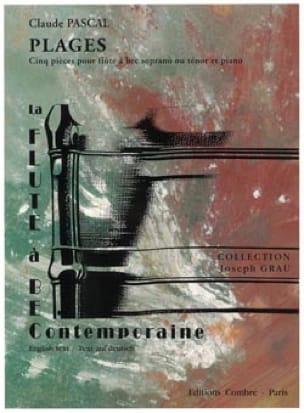 Plages - Claude Pascal - Partition - Flûte à bec - laflutedepan.com