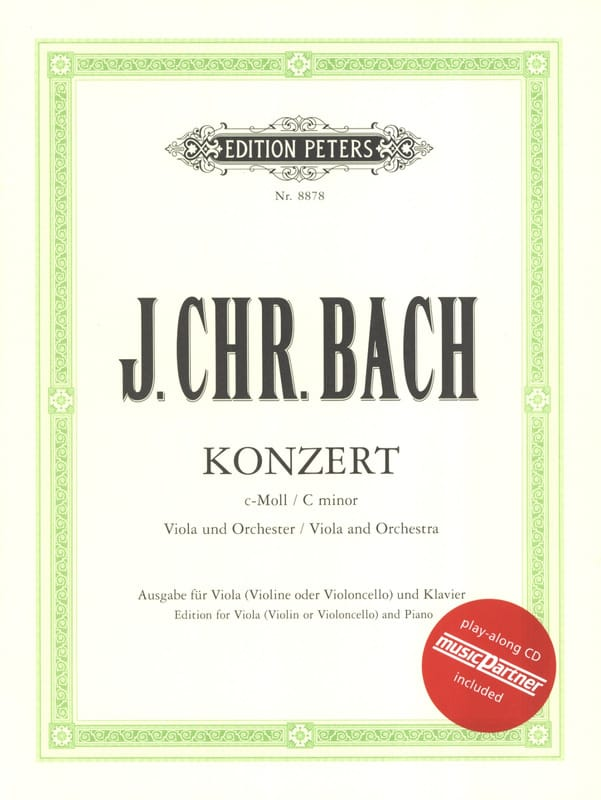 Johann Christian Bach - Alto Concerto in C minor with CD - Partition - di-arezzo.co.uk