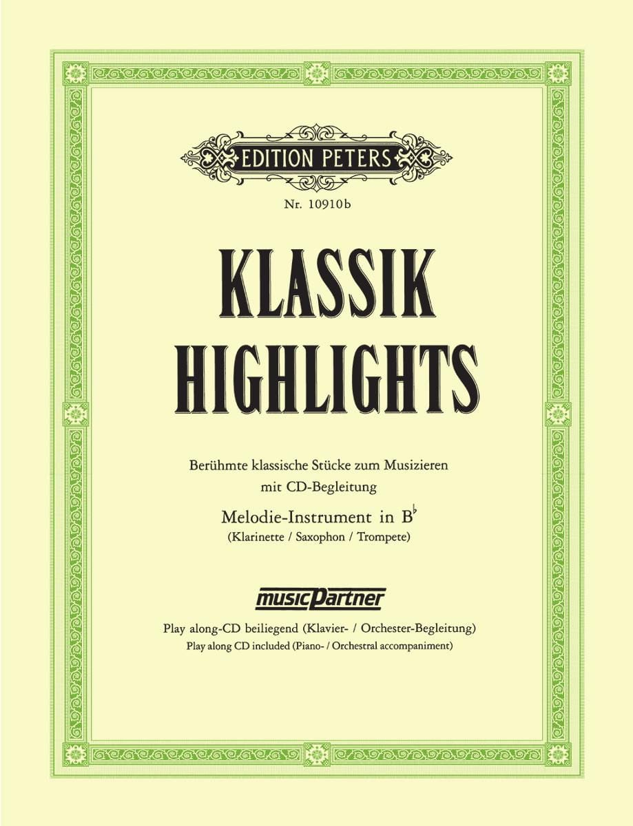 Klassik Highlights - Partition - Clarinette - laflutedepan.com