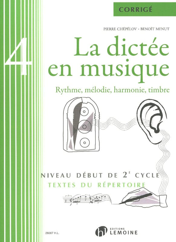 Pierre CHEPELOV et Benoit MENUT - The Dictation in Music - Answer Key - Volume 4 - Partition - di-arezzo.co.uk