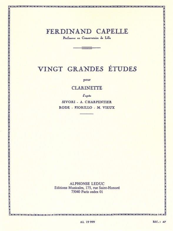 Ferdinand Capelle - 20 Major studies - Partition - di-arezzo.com