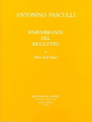 Antonino Pasculli - Rimembranze Del Rigoletto - Partition - di-arezzo.es