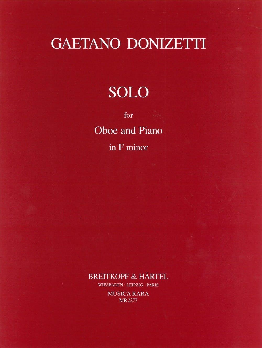 Solo in F minor for Oboe and piano - DONIZETTI - laflutedepan.com