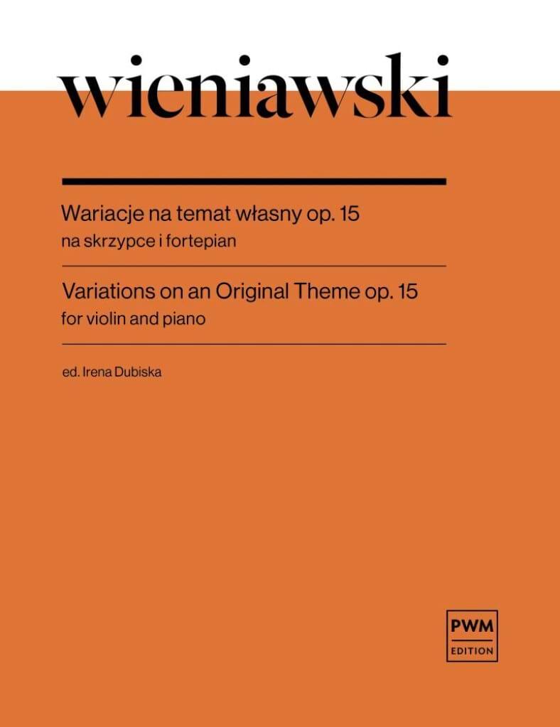 Variations sur un Thème Original Op 15 - WIENAWSKI - laflutedepan.com