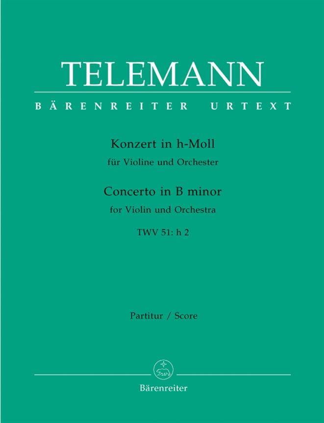 Konzert in h-moll für Violine TWV 51: h2 - Partitur - laflutedepan.com