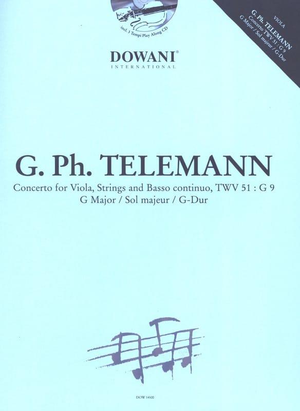 TELEMANN - Concerto Alto TWV 51: G 9, G major - Partition - di-arezzo.co.uk