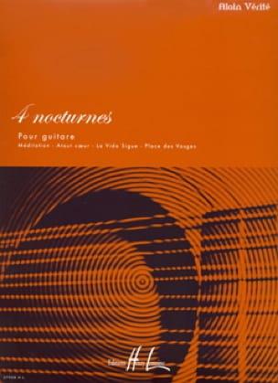 Alain Vérité - 4 Nocturnes - Partition - di-arezzo.co.uk