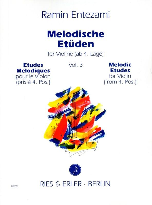 Ramin Entezami - Melodische Etüden Volume 3 - Partition - di-arezzo.com