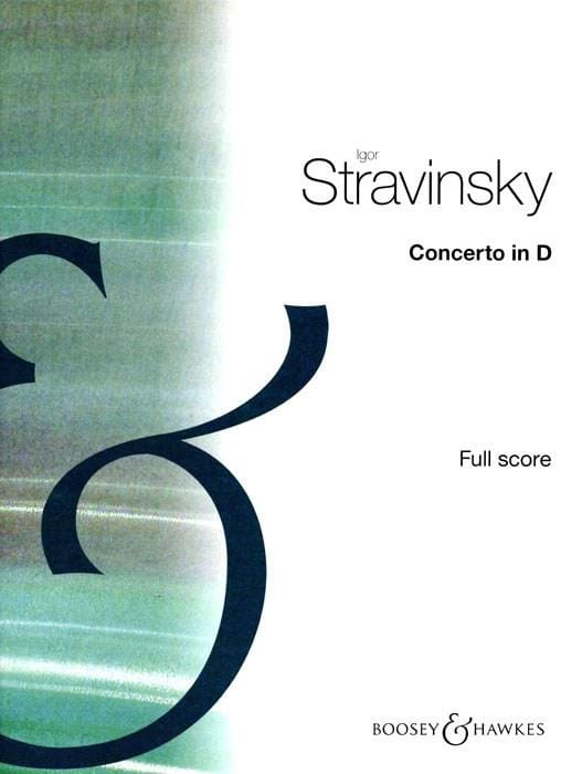 Igor Stravinsky - Concerto in D for Orch. à Cordes - Score - Partition - di-arezzo.co.uk