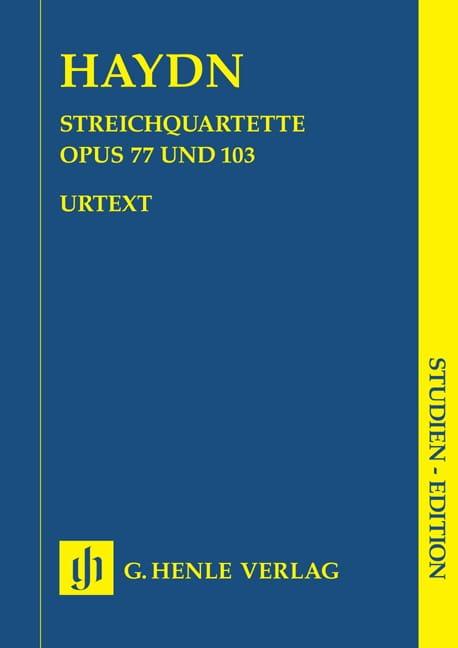 Streichquartette op. 77 u. 103 -Partitur - HAYDN - laflutedepan.com