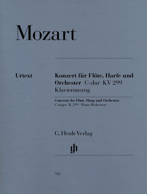 MOZART - C Major Concerto K. 299 297c for Flute, Harp and Orchestra - Partition - di-arezzo.co.uk