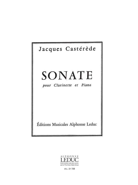 Jacques Castérède - sonata - Partition - di-arezzo.es
