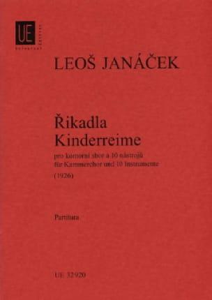 Rikadla - Kinderreime 1926 - Partitur - JANACEK - laflutedepan.com