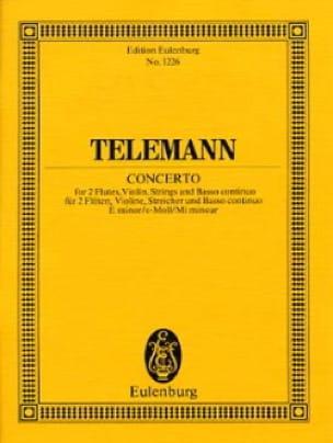 Konzert e-moll - TELEMANN - Partition - laflutedepan.com