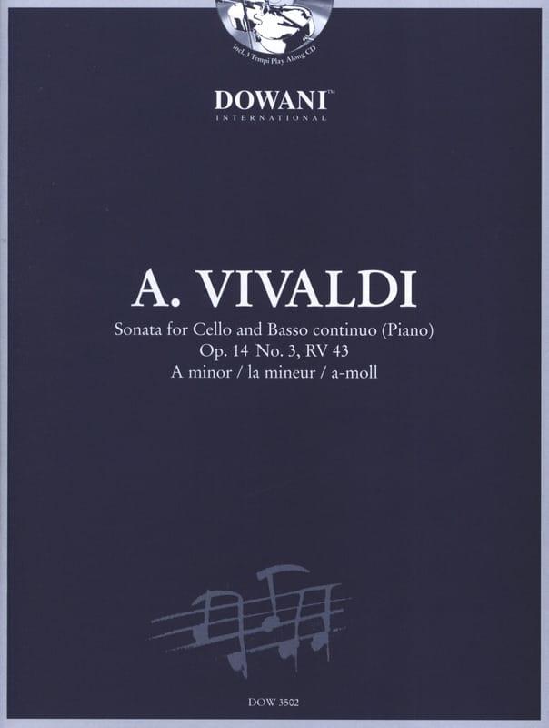 VIVALDI - Sonata op. 14 No. 3, RV 43 in the min. - Partition - di-arezzo.com