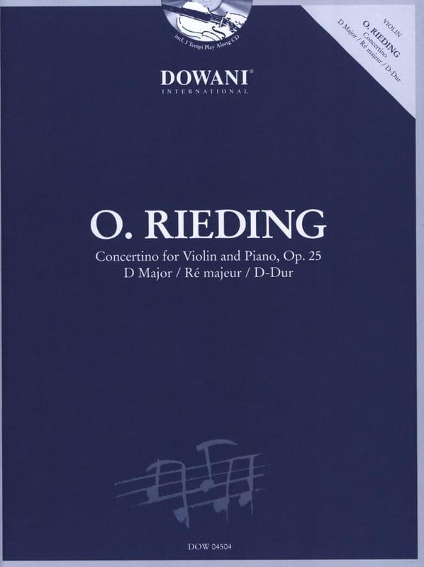 Concertino op. 25 in D - Oskar Rieding - Partition - laflutedepan.com