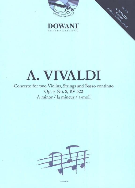 VIVALDI - Concerto for 2 Violins Op. 3 N ° 8 Rv 522 in the Minor - Partition - di-arezzo.com
