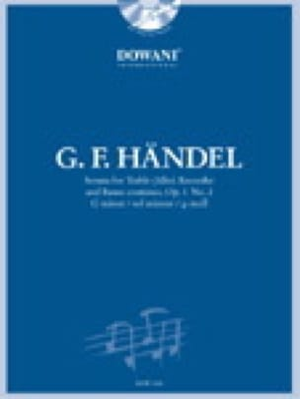 HAENDEL - Sonata op. 1 n ° 2 soil min. - Treble recorder Bc - Partition - di-arezzo.co.uk