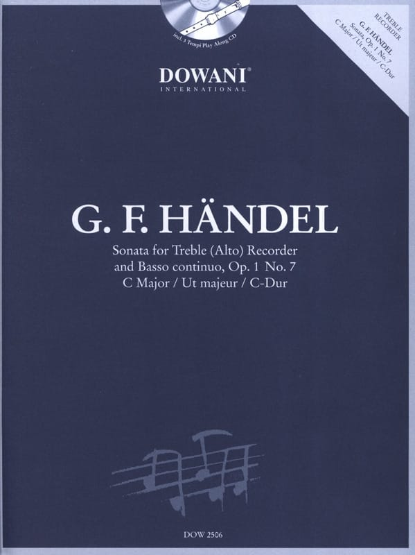 HAENDEL - Sonata op. 1 n ° 7 in ut maj. - Treble recorder Bc - Partition - di-arezzo.co.uk