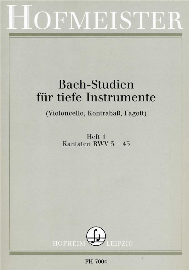 Bach Studien Kantaten - BACH - Partition - laflutedepan.com