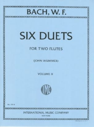 Wilhelm Friedemann Bach - 6 Duets - Volume 2 - 2 Flutes - Partition - di-arezzo.co.uk