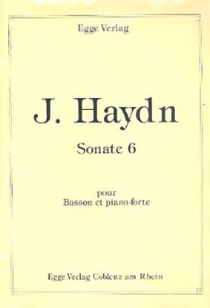 Sonate n° 6 -Basson et piano-forte - HAYDN - laflutedepan.com
