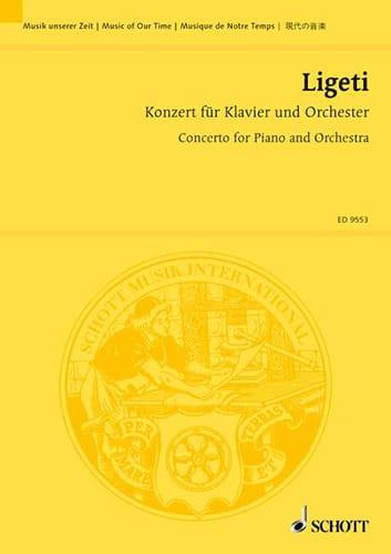 György Ligeti - Konzert für Klavier und orchester - conducteur - Partition - di-arezzo.fr