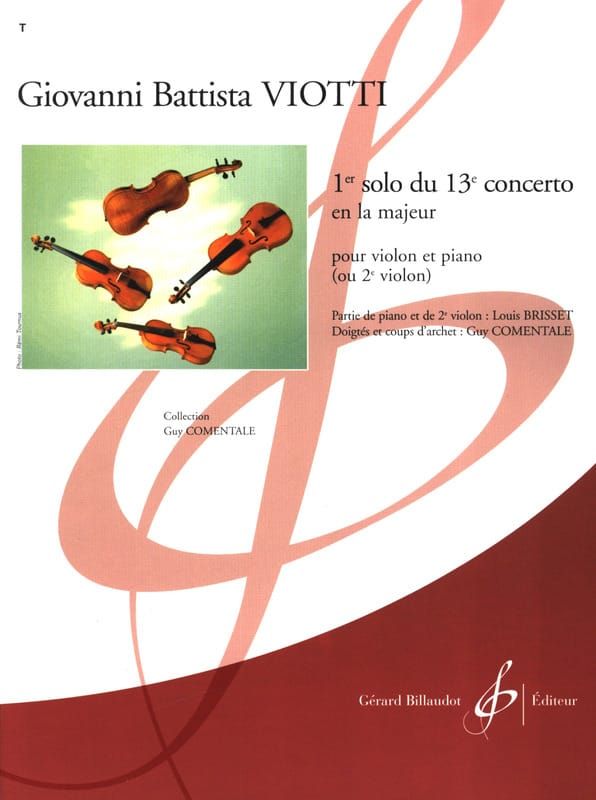 Giovanni Battista Viotti - 1st Solo of the Concerto n ° 13 - Partition - di-arezzo.co.uk