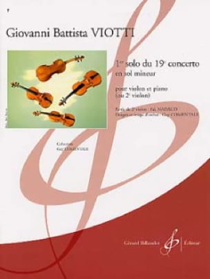 Giovanni Battista Viotti - 1st Solo of the Concerto n ° 19 - Partition - di-arezzo.co.uk
