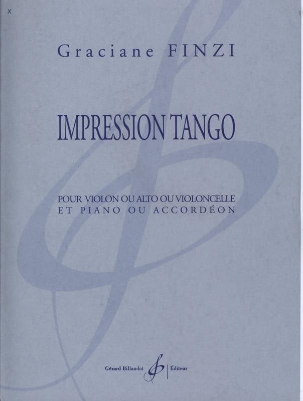 Impression Tango - Graciane Finzi - Partition - laflutedepan.com
