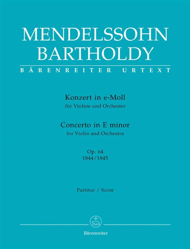 MENDELSSOHN - Konzert for Violine in e-moll op. 64 - Partition - di-arezzo.co.uk