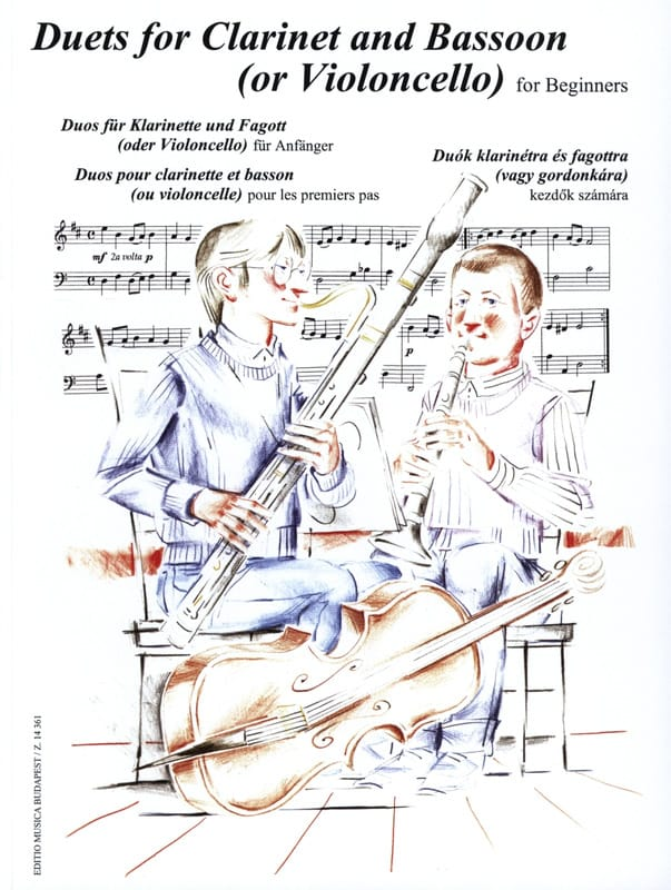 Duets for Clarinet and Bassoon for Beginners - laflutedepan.com