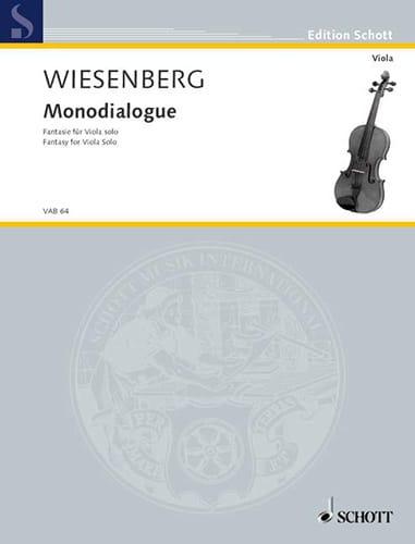 Monodialogue - Menachem Wiesenberg - Partition - laflutedepan.com