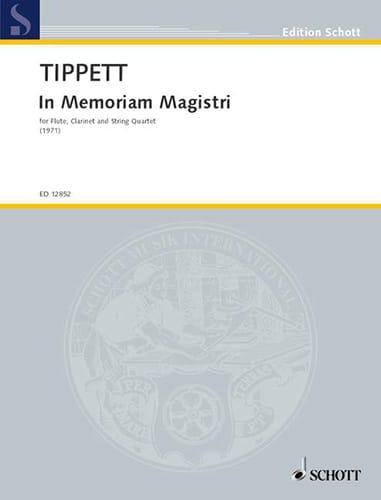 Michael Tippett - In Memoriam Magistri - Partitur - Partition - di-arezzo.es
