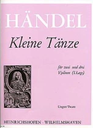 HAENDEL - Kleine Tänze - Partition - di-arezzo.com