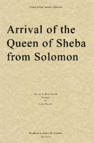 Arrival of the Queen of Sheba - String quartet - laflutedepan.com