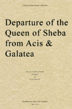 Departure of the Queen of Sheba - String quartet - laflutedepan.com