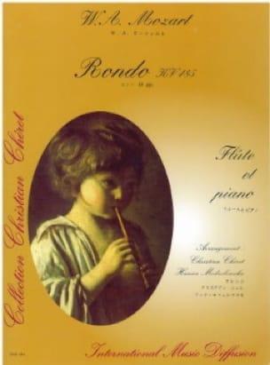 Rondo KV 485 - Flûte piano - MOZART - Partition - laflutedepan.com