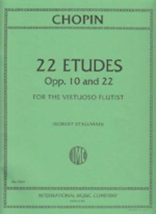 22 Etudes Op. 10 et 22 - CHOPIN - Partition - laflutedepan.com