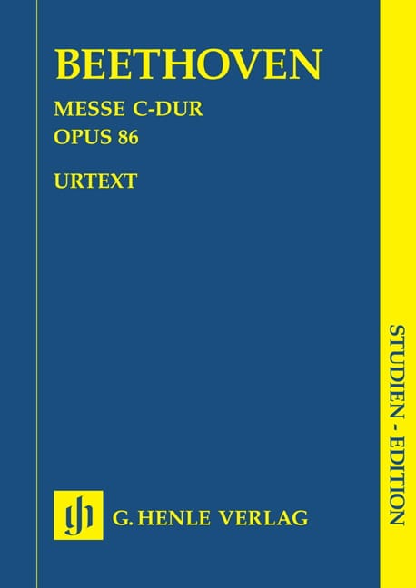 Messe C-Dur op. 86 -Partitur - BEETHOVEN - laflutedepan.com