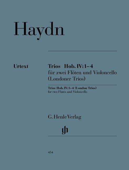 HAYDN - Trios Hob. IV:1-4 pour deux flûtes et violoncelle Trios de Londres - Partition - di-arezzo.fr